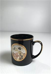 Beautiful! The Art of Chokin Black Gold Coffee Mug, Made in Japan. $25.00 shipped