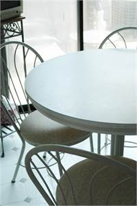 Round, White Table Kitchen Set or Dinette Set with 4 Kitchen Chairs, Cherry Hill, NJ