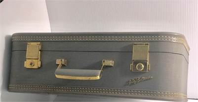 Lady Baltimore luggage mid century vintage blue-cherry-hill-nj