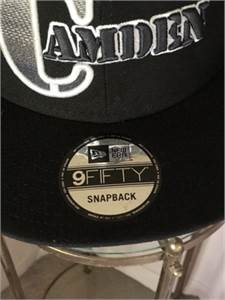 Men's Camden, NJ Black Cap Baseball Hat for Sale shipping available