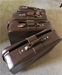 Vintage American Tourister Brown Nesting Luggage 4 suitcases in all cherry-hill-nj