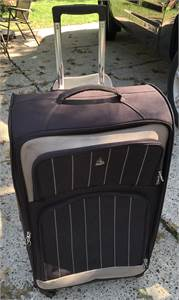 Aerolite Brown Luggage,  rolling, wheels, extended handle, cherry hill nj pickup