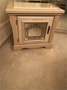 Small light stain color cabinet with mirror door cherry-hill-nj-08003
