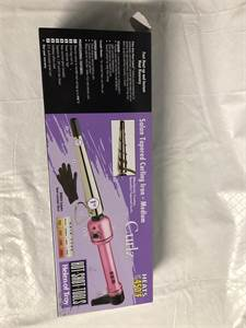 salon curling iron heats to 450 degrees. only $19.99 with free shipping !