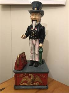 Uncle Sam bank vintage cool $25.00 cherry hill nj pickup or porch drop off available