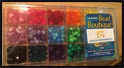 Bead Boutique, Bead Box. Multi Colored, Jewel Tones    Free shipping.    PayPal Available