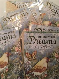 Follow Your Dreams Blank Note Cards-cherry-hill-nj