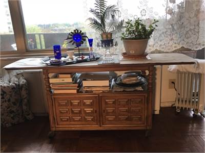 Vintage Bar, Cabinet or Buffet on Wheels