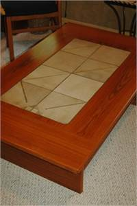 Tile top Coffee Table With Under table storage, from Scandinavian Collection, Cherry Hill, NJ