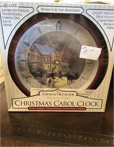 Thomas Kinkade Christmas Clock (in original Box). Cherry Hill, NJ shipping available