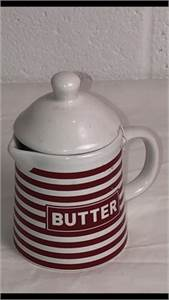 For Popcorn Fun! Ceramic Butter Pitcher and LID to keep butter warm, Great Gift