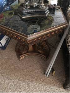 2 RETRO Glass marbleized End Tables