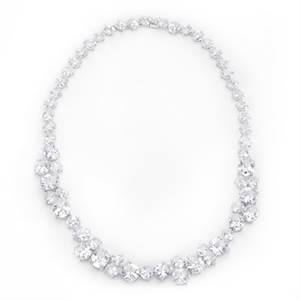 Bejeweled Cz Collar Necklace