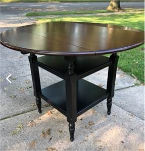 SOLD! Pier One Table with fold down side leafs. Cherry Hill NJ