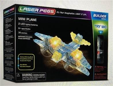 New ! Airplane: Laser Pegs Mini Plane Building Set Building Kit / Model:10011: shipping available