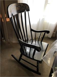 Lock 1776 Vintage Black Rocker / Rocking Chair Cherry-Hill-NJ