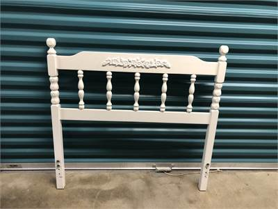 Twin Headboard White with Pretty Floral Motif Local Pick Up Cherry Hill, NJ 08003