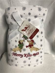 Merry Kissmas hand towels with shipping available or local pickup from Cherry Hill, NJ. new in pack