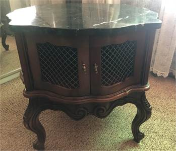 marble top end table, side table, cabinet, cherry hill nj pick up