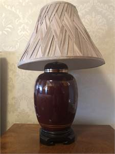 2 beautiful Asian inspired red lamps cherry hill or philly $50.00 per lamp