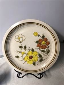 Stoneware Oven to Table, Woodbury Plate, Painted Meadow 12 inch plate, Cherry Hill NJ Pickup