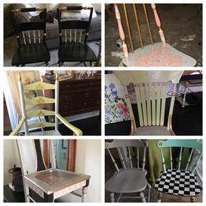 I paint accent chairs