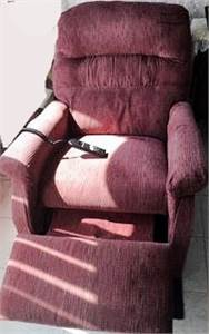SOLD!  Lift Chair Light Burgundy or Wine color, Remote Control Chair, Chair with remote