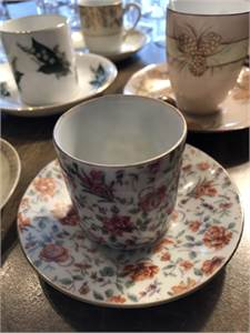 Demitasse Cups Mixed Variety and One full set Cherry Hill, NJ