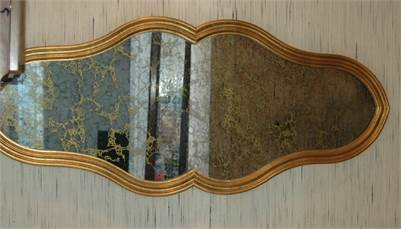 Sold! Gold Vein Accent Mirror, Antique Mirror Effects, Accent Wall Mirror, Cherry Hill, NJ