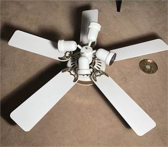 White Ceiling Fan with Lights Make an Offer! cherry-hill-nj