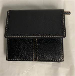 black wallet women's genuine leather $9.99 with shipping included