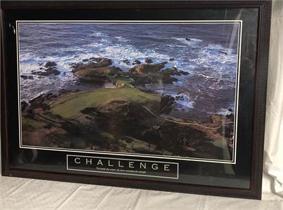 "Framed Challenge Poster Art 26"" Height x 38"" Width Cherry Hill, NJ local pickup, shipping available"