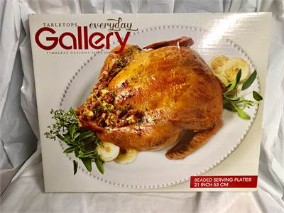 beautiful serving poultry platter by Gallery Cherry Hill, NJ local pickup or shipping available