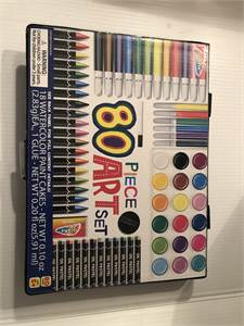 80 piece art set new great deals from Santa's Toy Shop! $12 shipped