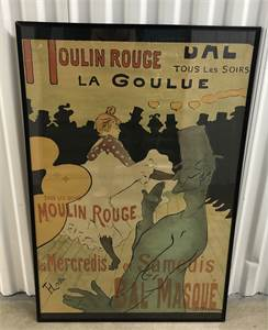 vintage Moulin Rouge Poster from the 1970's local pickup cherry hill nj