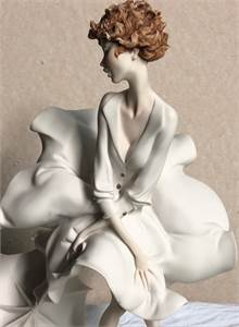 Woman with Umbrella Porcelain figure By Giuseppe Armani
