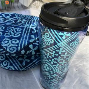 Vera Bradley Lunchbox and matching travel mug... pretty !