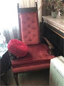 2 Retro, Red Velour Chairs