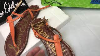 see video ! Sam Edelman flats sandals size 8M  $19.99 shipped