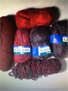 Burgundy Color Group - 6 Skeins of Yarn   Free shipping.    PayPal Available