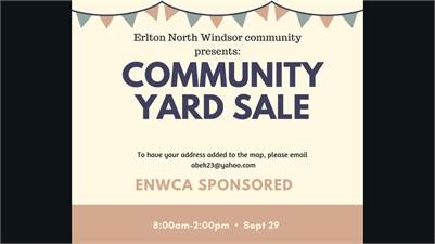 9/29/2018: ERLTON NORTH AND WINDSOR COMMUNITY YARD SALE