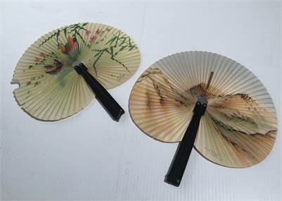 2 handheld Vintage Asian Fans cherry-hill-nj with shipping available
