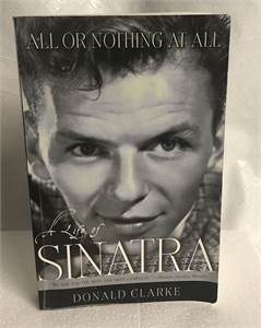 All or Northing at All Frank Sinatra hardcover book with free shipping !