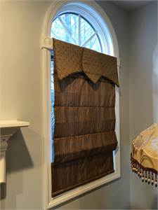 Roman Shades Dark Brown for 2 windows