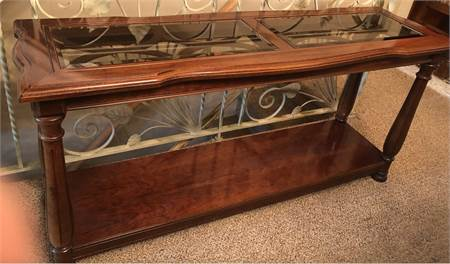 console table / sofa table, glass top, lovely: pickup cherry hill nj