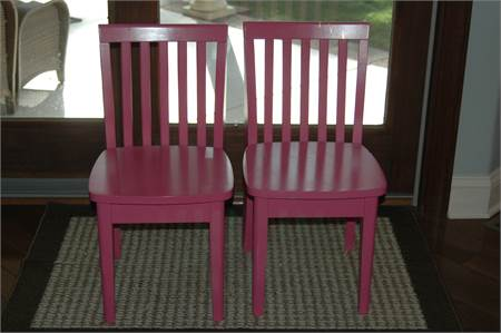 2 pink chairs for $10.00 kids bright pink pickup in sicklerville nj