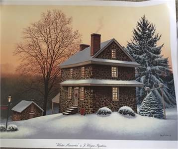Poster: Winter Memories by  J. Wayne Bystrom 19.5 x 25.5 Cherry Hill, NJ  shipping available