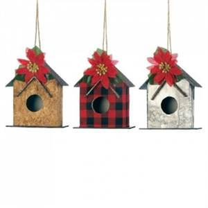 Out of stock: Little Birdhouse Ornament Set