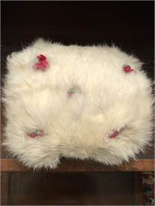 Vintage Rabbit Muff with rosettes  Cherry Hill, NJ