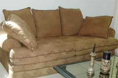 Big, Comfy, Earth Tones Sofa and Love Seat in Like New Condition, Cherry Hill, NJ